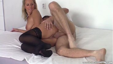 Black Cock Puts Into The Pussy