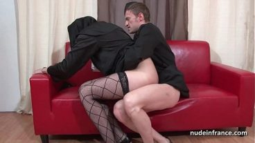 He Fucks Young Woman and Cums Inside His Wife
