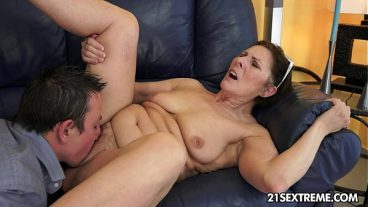 Mature Licks Her Hairy Pussy