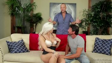 Mature Man Tousled Blonde And Fucked Her On The Sofa