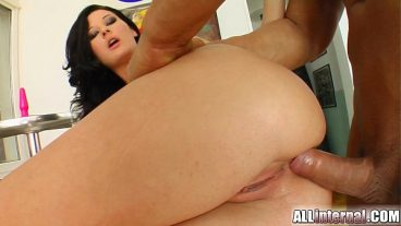 Relieved by squeezing young woman's ass